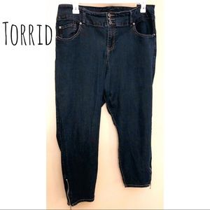 Torrid cropped stiletto zip skinny jeans 22R